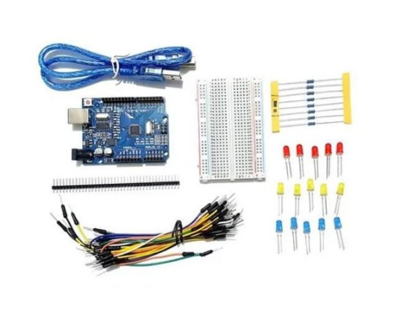 KIT STARTER C/ UNO CH340 COMPATÍVEL ARDUINO + BOX