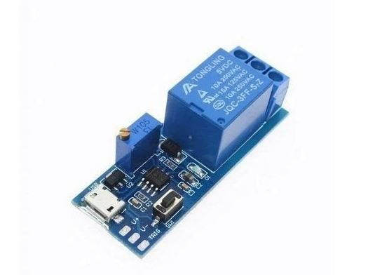 RELE TEMPORIZADOR TRIGGER MICRO USB 5V 1 CANAL PARA ARDUINO PIC