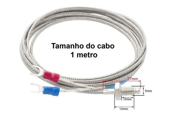 SENSOR TERMOPAR TIPO K 0 A 400 GRAUS