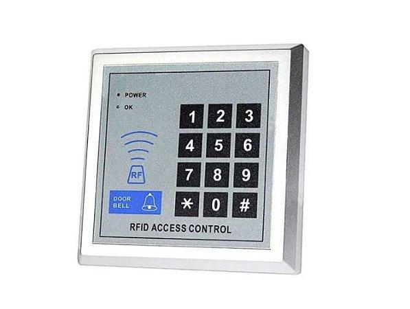 CONTROLE DE ACESSO RFID 125KHZ C/ 10 TAGS CHAVEIRO