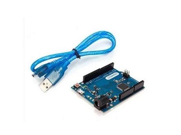 ARDUINO LEONARDO COMPATÍVEL  + CABO USB