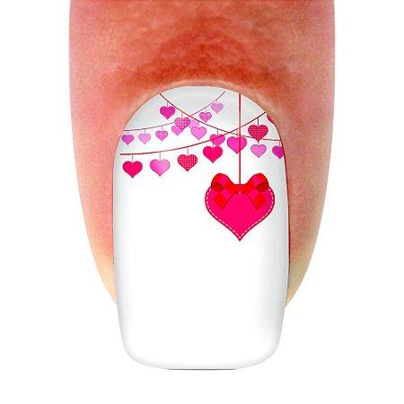 Adesivo de unha Dia dos Namorados Happy Valentines 03 com 12un