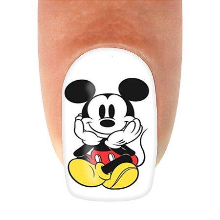 Adesivo de Unha Personagem Mickey Sentado com 12un
