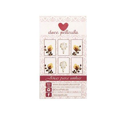 Adesivo de Unha Premium Tulipa Marrom 99 - 6un