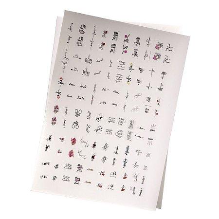 Cartelão de Peliculas de Unhas Tradicionais - 120un
