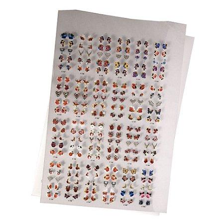 Cartelão de Peliculas de Unhas 3D Sortidos
