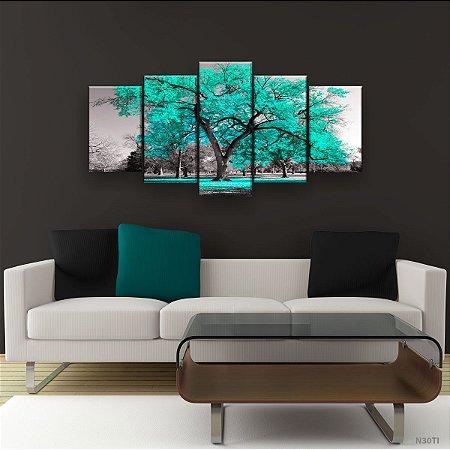 Quadro Decorativo Árvore Grande Tiffany 129x61cm Sala Quarto