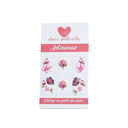 Adesivo de Unha Artesanal Flores 152