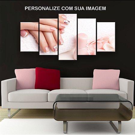 Quadro Decorativo Personalizado Para Seu Salão 129x61cm Sala Quarto