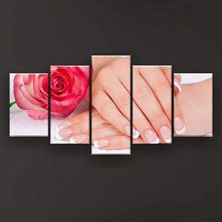Quadro Decorativo Francesinhas Rosa 129x61cm Sala Quarto