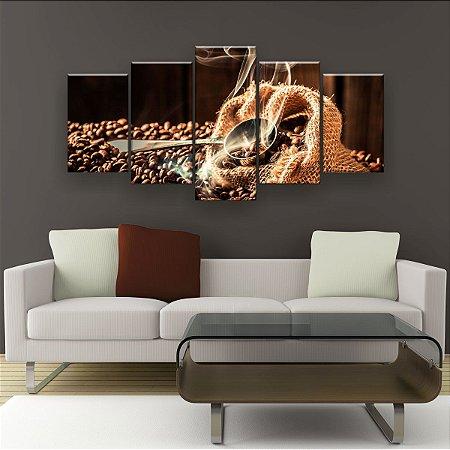 Quadro Decorativo Aroma Do Café 129x61cm Sala Quarto