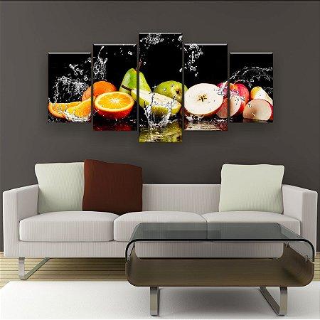 Quadro Decorativo Frutas Na Água 129x61cm Sala Quarto
