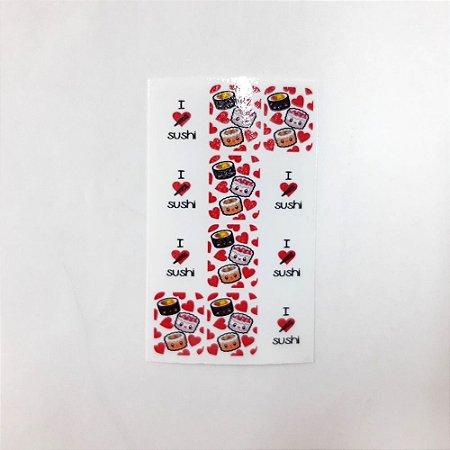 adesivo de unha variado 235 com 12un Sushi
