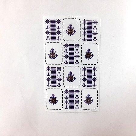 adesivo de unha variado 224 com 12un