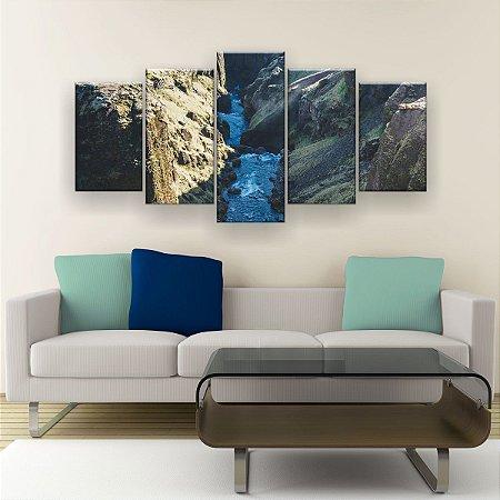 Quadro Decorativo Canion Islândia 129x61cm Sala Quarto
