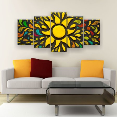 Quadro Decorativo Sol 129x61cm Sala Quarto