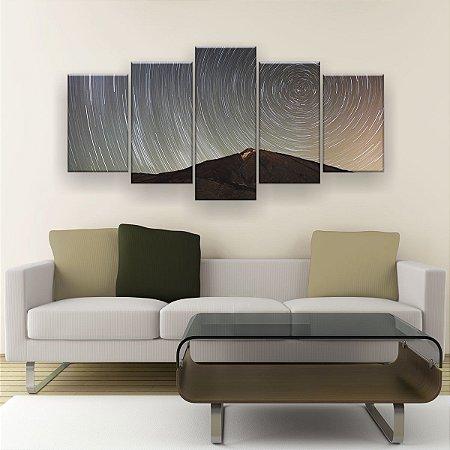 Quadro Decorativo Universo Girando 129x61cm Sala Quarto