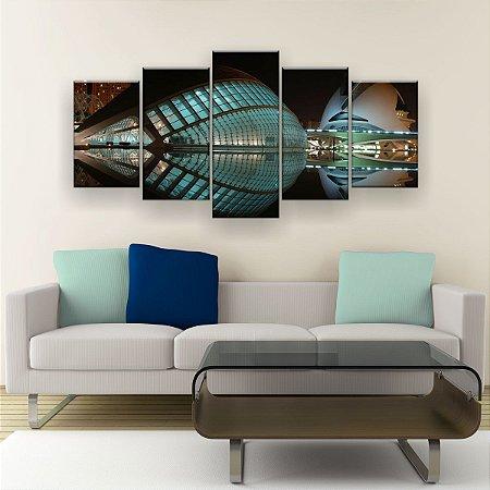 Quadro Decorativo Arquitetura Moderna 129x61cm Sala Quarto