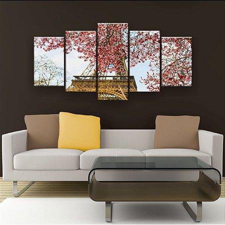 Quadro Decorativo Árvore Torre 129x61cm Sala Quarto