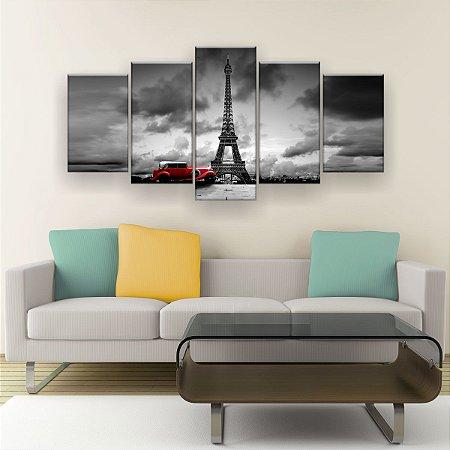 Quadro Decorativo Torre Carro 129x61cm Sala Quarto