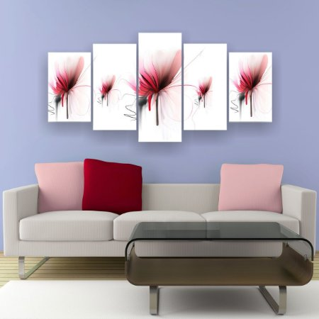 Quadro Decorativo Flor Delicada 129x61cm Sala Quarto
