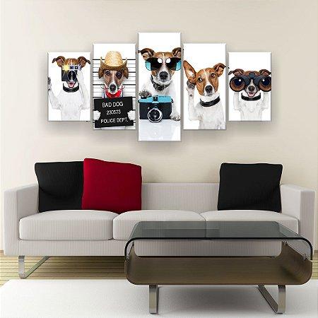 Quadro Decorativo Dog 129x61cm Sala Quarto