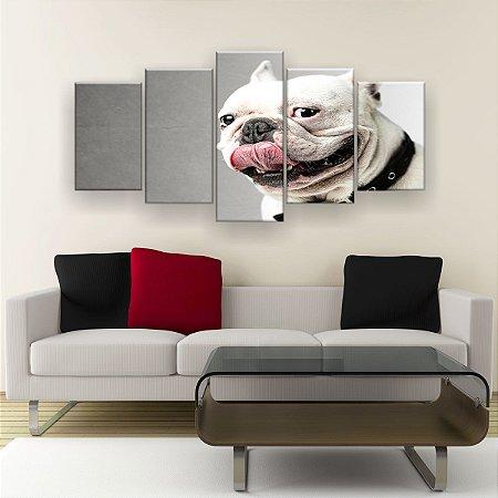 Quadro Decorativo Bulldog 129x61cm Sala Quarto