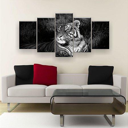 Quadro Decorativo Tigre 129x61cm Sala Quarto