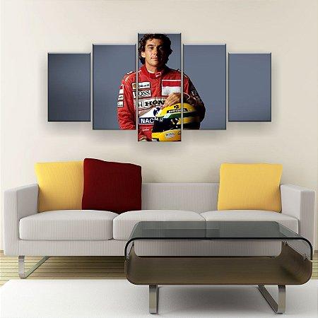 Quadro Decorativo Ayrton Senna 129x61cm Sala Quarto