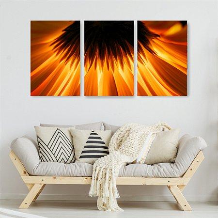 Quadro Decorativo Girassol Luz 115x57cm Sala Quarto
