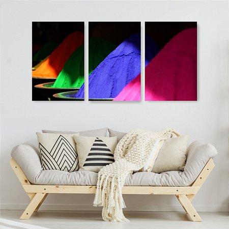 Quadro Decorativo Pó De Colorir 115x57cm Sala Quarto