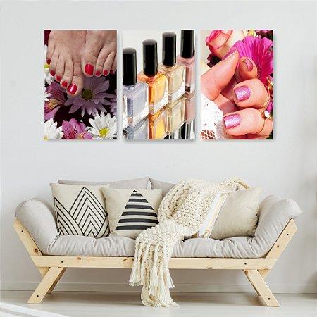 Quadro Decorativo Manicure 115x57cm Sala Quarto