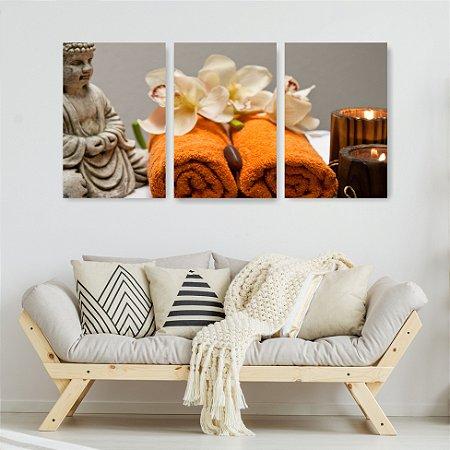Quadro Decorativo Spa Buda 115x57cm Sala Quarto