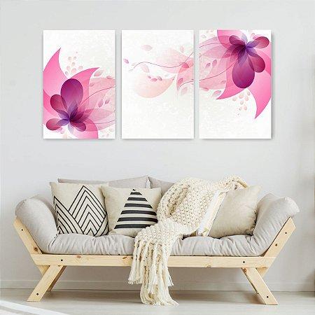 Quadro Decorativo Magia Das Flores 115x57cm Sala Quarto