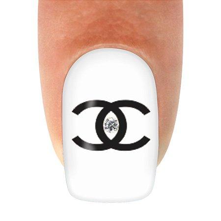 Adesivo de Unha Chanel Linha Strass - 12un