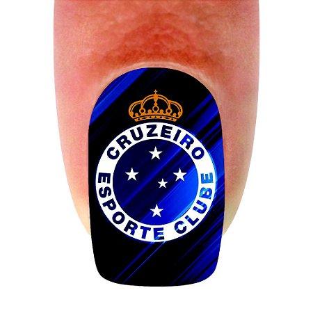 Adesivo de Unha Time 02 Cruzeiro - 12un