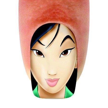 Adesivo de Unha Era uma Vez 08 Mulan com 12un