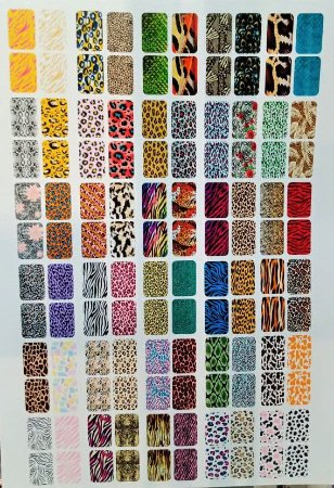 Cartelão de Peliculas de Unhas Tradicionais Animal Print - 120un