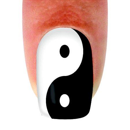 Adesivo de unha Variado Yin e Yang 273 com 12un