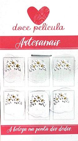 Adesivo de Unha Trio Artesanal 21 - 6un