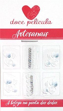 Adesivo de Unha Trio Artesanal 35 - 6un