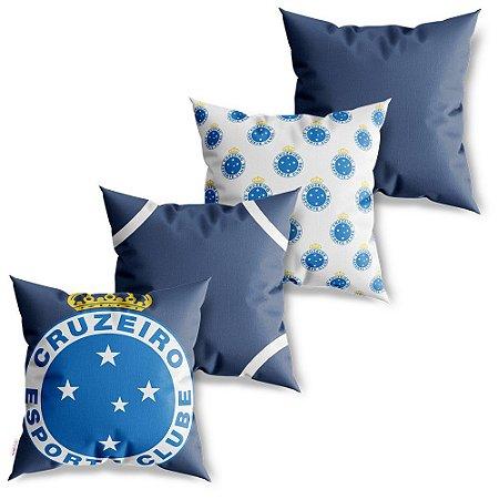 Kit 4 Capas de Almofadas Decorativas Cruzeiro