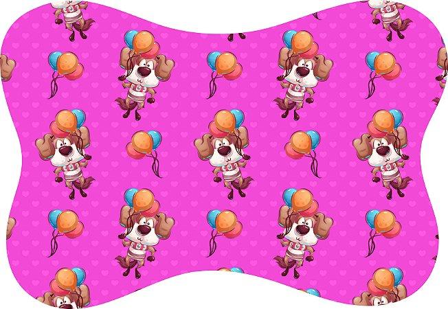 Tapete Decorativo Osso Pet Cachorrinho Balões