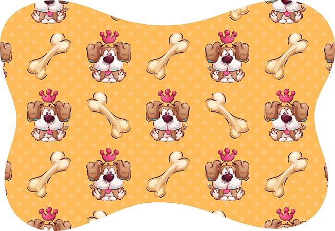 Tapete Decorativo Osso Pet Cachorrinho Coroa