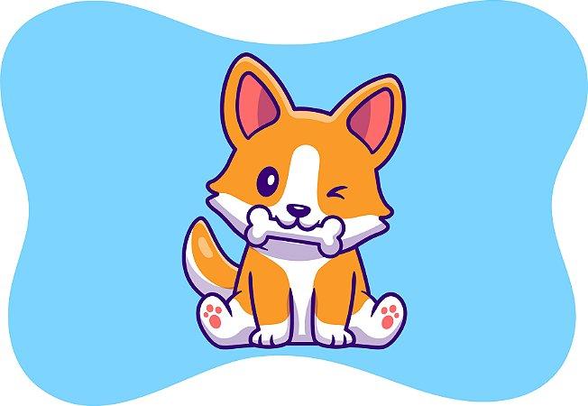 Tapete Decorativo Osso Pet Cachorrinho Piscando