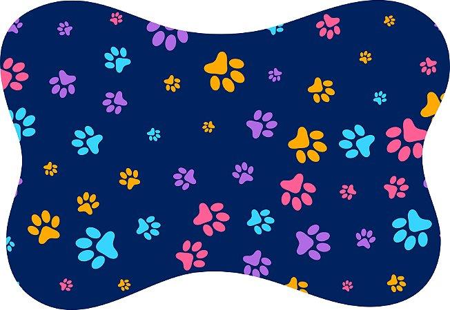 Tapete Decorativo Osso Patinhas Coloridas