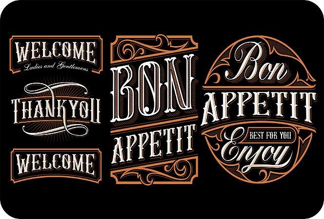 Tapete Individual Para Cozinha Bon Appetit