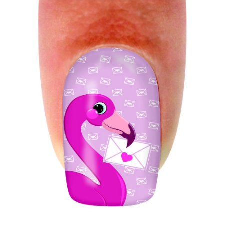 Adesivo de Unha Animal Flamingo 151 - 12un