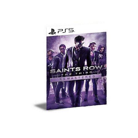 Saints Row The Third Remastered Ps5 Psn Mídia Digital