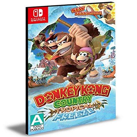 Donkey Kong Country Tropical Freeze NINTENDO SWITCH Mídia Digital